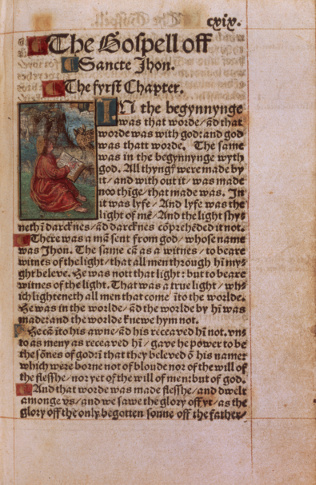 Page of Tyndale Bible